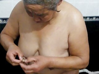 Chinese granny in the make a clean breast