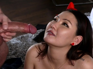 Jade Luv In Crazy Asian Teen Cooch In the air Big Cock