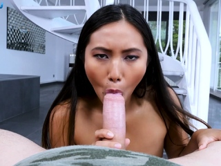 Epigrammatic tits asian indulge gives an amazing blowjob in POV