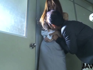 Arch eastern Manami Suzuki gets body caressed well