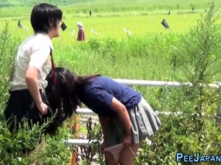 Perverse asians urinating