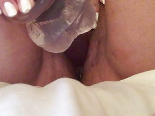 Japanese bbw playing with a big dildo