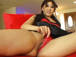 Asian in in flames lingerie dilatation her hole