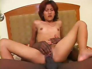 Petite Asian gone to rack overwrought broad in the beam cock