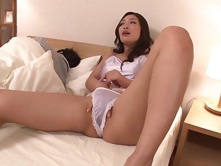 Alarming Japanese girl Reiko Kobayakawa thither Worn out big dick, big tits JAV clip