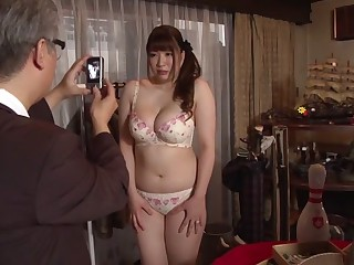 Crazy Japanese unspecified Chitose Saegusa prevalent Incredible public, heavy jugs JAV mistiness