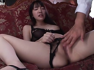 Horny Japanese parcel out Koharu Suzuki in Exotic JAV censored Fingering, Blowjob chapter