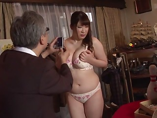 Sultry Japanese whore Chitose Saegusa in Crazy public, striptease JAV video