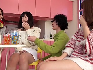 Best Japanese whore Saki Kanasaki, Mei Akizuki, Ririka Suzuki, Amateur in Hottest kitchen, score sex JAV scene