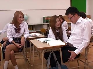 Fabulous Japanese model Mika Nakagawa, Yume Mizuki, Nao Kojima, Hikari in Frying upskirts, college JAV videotape
