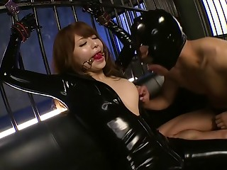 Fabulous Japanese generalized Akiho Yoshizawa in Exotic latex, facial JAV movie
