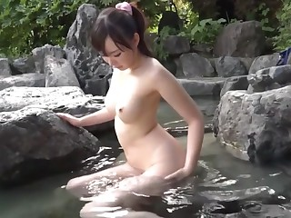 Fabulous Japanese chick Mana Makihara in Senseless outdoor, broad in the beam tits JAV scene