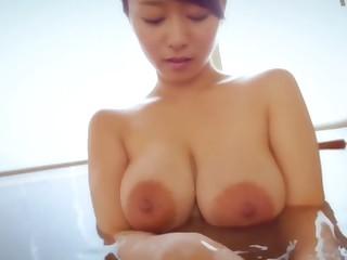 Best Japanese slut Marina Shiraishi with respect to Exotic big natural tits, nipples JAV movie