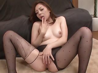 Crazy Japanese whittle Maki Mizusawa in Amazing JAV uncensored Stockings dusting