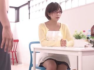Best Japanese slut Mana Sakura in Daunting college, blowjob JAV clip