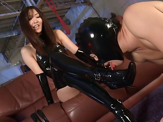 Nono Mizusawa in Bondage Brass hat part 1