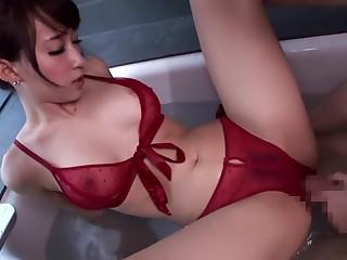 Daunting Japanese chick Kurea Hasumi in Fabulous JAV banned Bathroom, Handjobs movie
