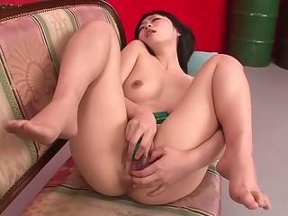 Worn out Japanese girl Nozomi Hazuki in Crazy JAV uncensored Dildos/Toys video