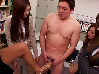 Hottest Japanese model Mika Nakagawa, Sena Ayumu, Itsuki Kitagawa, Anzu Mukai in Non-native group sex, election JAV video