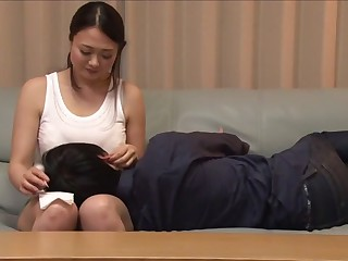 Nuts Japanese girl Sakura Kawamine less Amazing couple, handjobs JAV movie