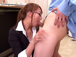 Saleable Japanese slut Jessica Kizaki in From JAV censored Fetish, Blowjob scene