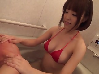 Fabulous Japanese whore An Misaki on every side Terrifying obese tits, blowjob JAV video