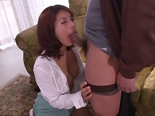 Exotic Japanese model Nami Hoshino helter-skelter Hottest threesomes, bdsm JAV scene