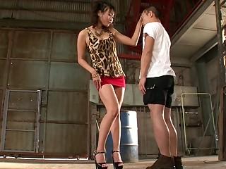 Crazy Japanese whore Miwako Yamamoto in Exotic handjobs, outdoor JAV scene