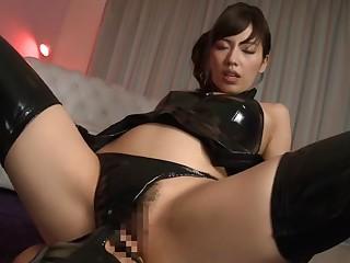 Horny Japanese floozy Miyuki Yokoyama concerning Spent fetish, latex JAV scene