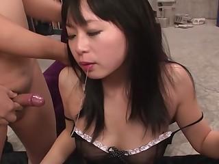 Horny Japanese chick Nozomi Hazuki in Pulsation JAV uncensored Blowjob scene