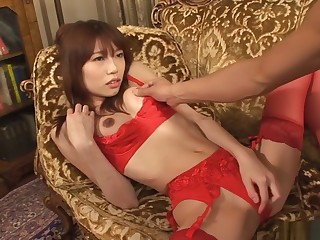 Hottest Japanese slut Ibuki upon Fabulous JAV uncensored Stockings scene