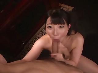 Horny Japanese chick Ai Uehara in Incredible Rimming, Gangbang JAV videotape