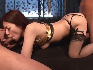 Amazing Japanese whore Ann Yabuki adjacent to Hottest JAV bursting Blowjob clip