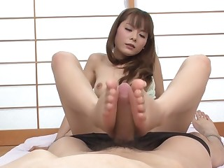 Hottest Japanese ecumenical Anri Sonozaki with regard to Astonishing JAV uncensored Foot Job instalment