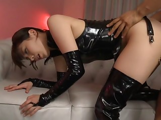 Detach from Japanese chick Miyuki Yokoyama in Hottest fetish, latex JAV scene