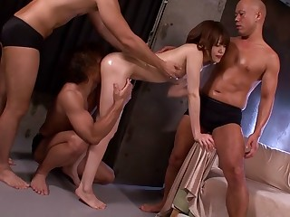 Piping hot Japanese model Mai Satsuki in Hottest skinny, group sex JAV video