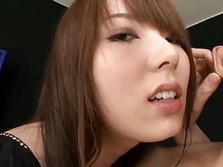 Yui Hatano plays with cock