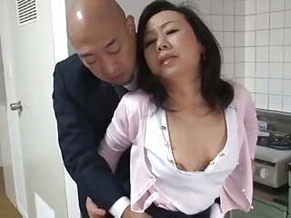 Full-grown Japanese mother Desires son's friend Load of shit (Censored)