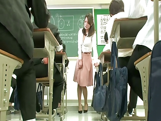 Remote vibrator connected with than teacher skirt