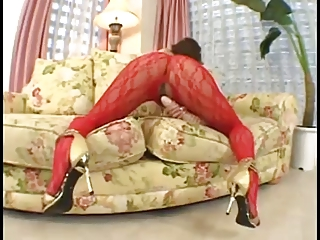 Japanese Girl In the matter of A 24 Inch Dildo