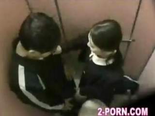 schoolgirl fellow-feeling a amour with amateur pauper just about washroom 001