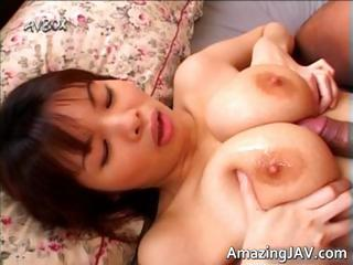 Hot busty asian gets her titties disciplined part3