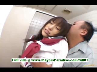 Arisa kanno young japanese schoolgirl in someone's skin bathroom