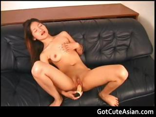 Choompo all over a beamy dildo asian amateur part2