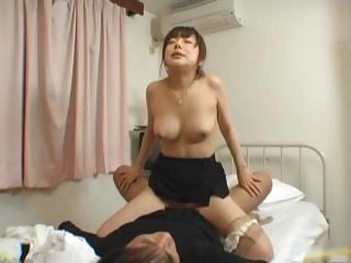 Japanese female bastardize gets some hot coition part4