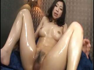 Busty Japanese girl gets fondled, fingered, banged, and sucks him off