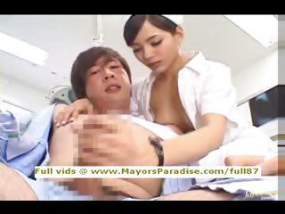 Rio innocent Chinese nurse enjoys doing handjob