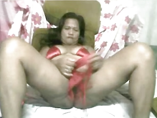 47yr old Fillipina Mom Fucking Herself on Webcam with Me