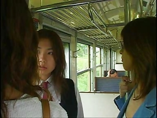 The Best 3 Japanese Girls Tongue Kissing Carnal knowledge Scene