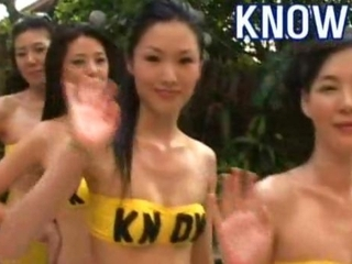 Korean KNOW Girls Sea Side Massage